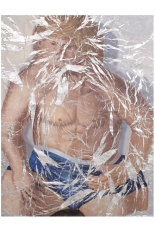 Lucy Kim Jessie – Unfolded Oil paint on aluminum foil 45″ x 59″ 2012