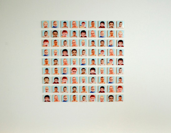 "Nicholas Sullivan, ""You Told Me To Go F**k Myself"", 30""x30"", mixed media, C-prints face-mounted to poplar, 2008"