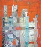 Liette Marcil, 5, 48x42, Oil, mixed media on canvas, 2016